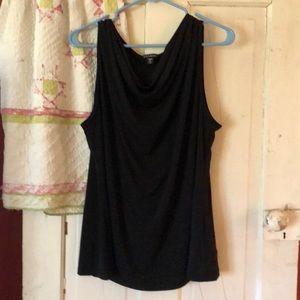 Nwot black knit shell top
